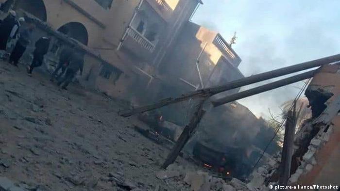 Libyen Kämpfe | Zerstörung nach Luftangriff