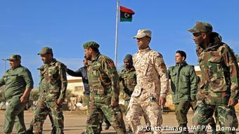 Μαχητές του στρατηγού Χαφτάρ στη Βεγγάζη.