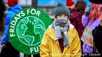 Schweden Stockholm | Greta Thunberg, schwedische Klimaaktivistin | Fridays for Future-Streik