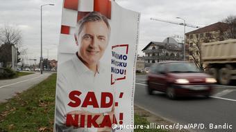 Kroatien Wahl Kandidaten / Miroslav Skoro Plakat (picture-alliance/dpa/AP/D. Bandic)