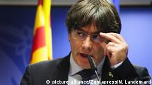 December 19, 2019, Brussels, Belgium: Press conference by Carles Puigdemont following a European court decision which confirms that ''All MEPs are protected by immunity from the day of their election' (Credit Image: © Nicolas Landemard/Le Pictorium Agency via ZUMA Press |