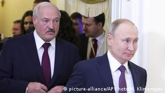 Президент Беларуси Александр Лукашенко и президент России Владимир Путин