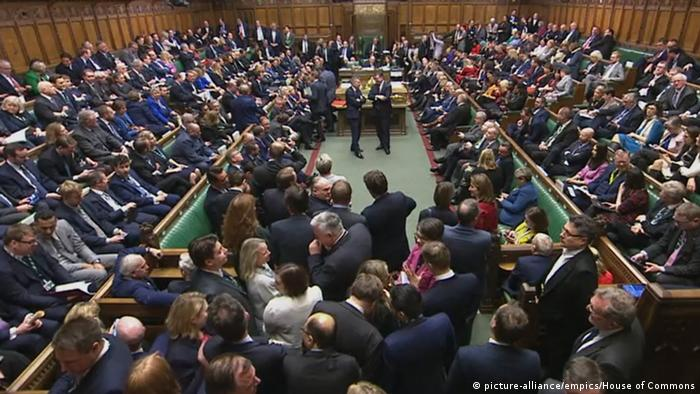 England Unterhaus Abstimmung Brexit-Gesetz (picture-alliance/empics/House of Commons)