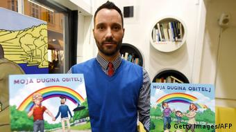 Ivo Segota with his book My Rainbow Family (Getty Images/AFP)