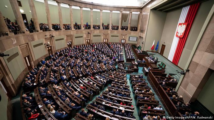 Заседание польского Сейма, фото из архива