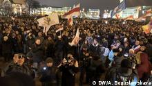 Weißrussland, Minsk: Proteste in Minsk Lukaschenko
