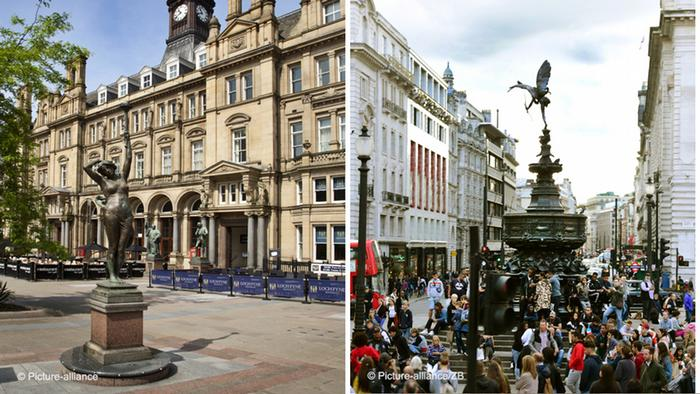 Leeds and London in comparison