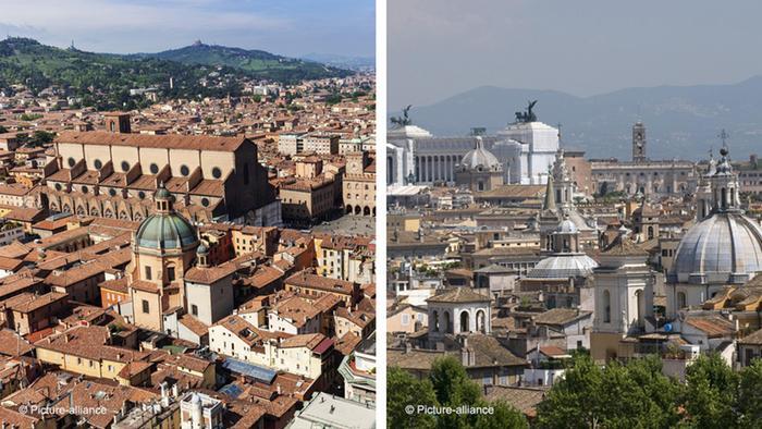 Bologna y Roma