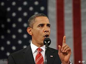 President Barack Obama during the State of the Union address