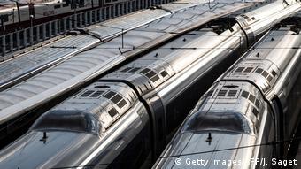 Frankreich Paris Gare du Nord Streik Rentenreform Züge