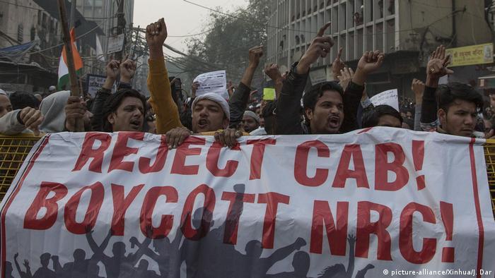 Протесты в Нью-Дели из-за нового закона о гражданстве, 20 декабря 2019 г.
