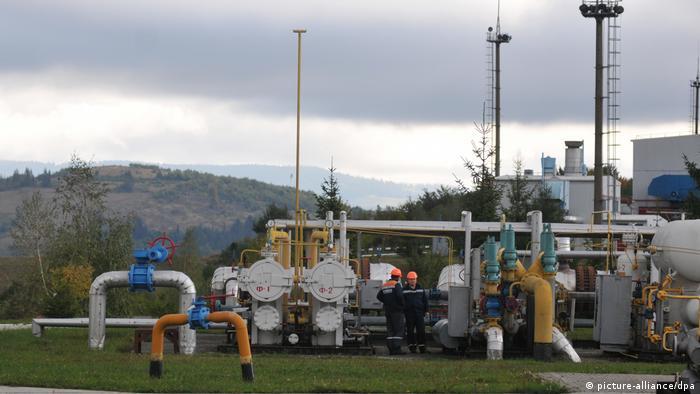 Участок трубопровода в Закарпатье