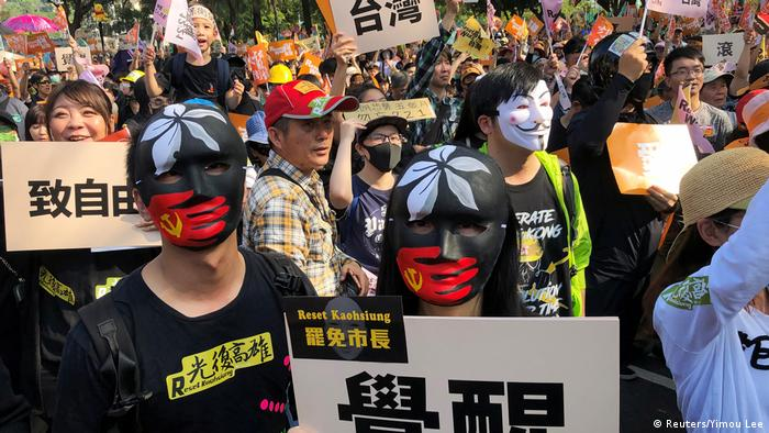 Taiwan Kaohsiung Proteste gegen Kuomintang