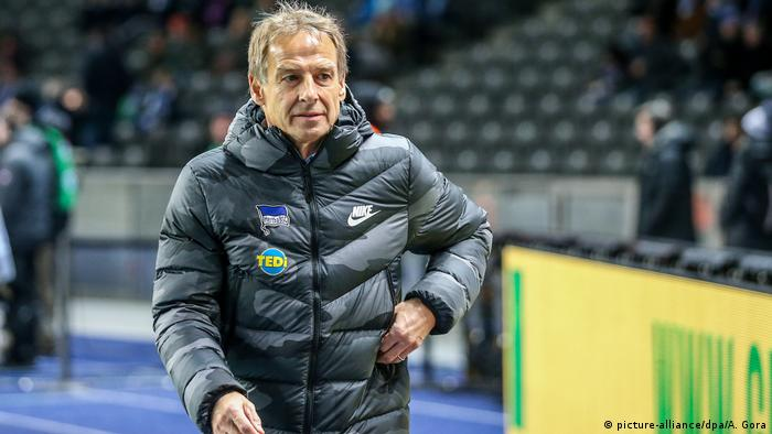 Hertha Berlin's Jürgen Klinsmann steps down as head coach