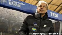 BERLIN, GERMANY - DECEMBER 21: Head coach Juergen Klinsmann of Berlin looks on prior to the Bundesliga match between Hertha BSC and Borussia Moenchengladbach at Olympiastadion on December 21, 2019 in Berlin, Germany. (Photo by Matthias Kern/Bongarts/Getty Images)
