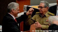 Kuba Präsident Miguel Diaz Canel & Raul Castro