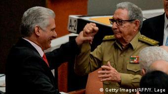 Díaz-Canel y Raúl Castro.