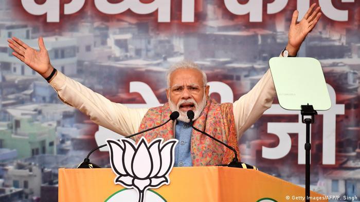 Indien Parteivernastaltung Narendra Modi Rede