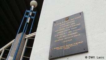 Gedenktafel für die Opfer der Partisanen