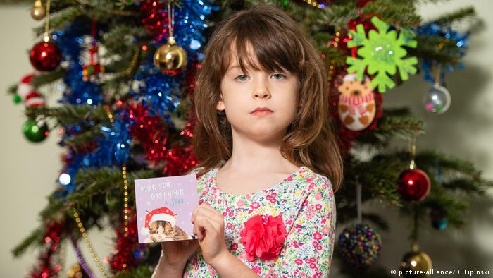 A 6-year-old British girl discovered the message in the card