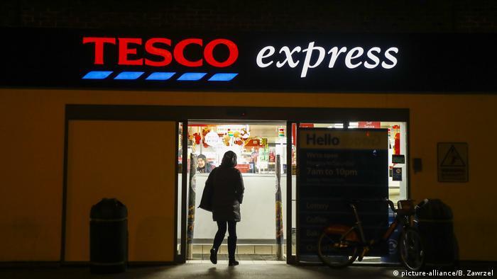 Logo da rede de supermercados britânica Tesco