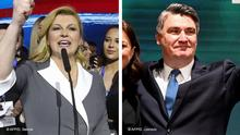 Kombibild Kolinda Grabar-Kitarovic und Zoran Milanovic