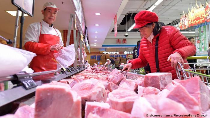 China Metzger Schweinefleisch