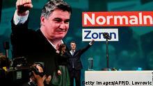 Kroatien Zagreb | Zoran Milanovic liegt im ersten Wahlgang vorne