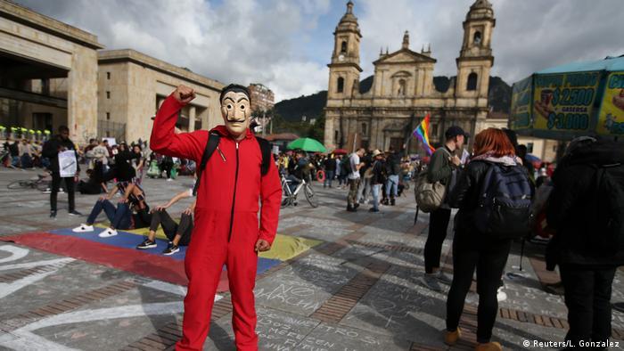 متظاهرون في كولومبيا ضذ حكومة الرئيس إيفان دوكي