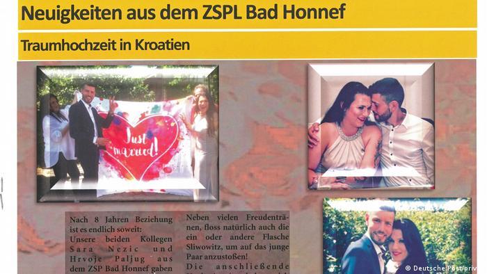 Novine Njemačke pošte - Priča o Sari i Hrvoju