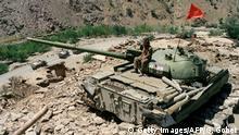 Afghanistan Wrack eines russischen T64 Panzer