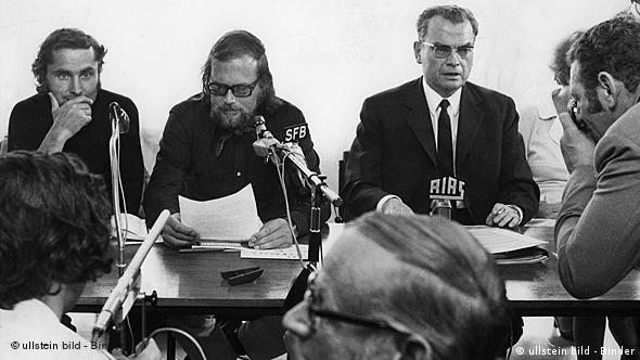 Michael Verhoeven at a press conference in 1970