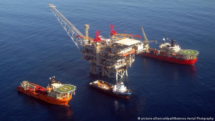 Doğu Akdeniz'de İsrail'e ait doğal gaz platformu