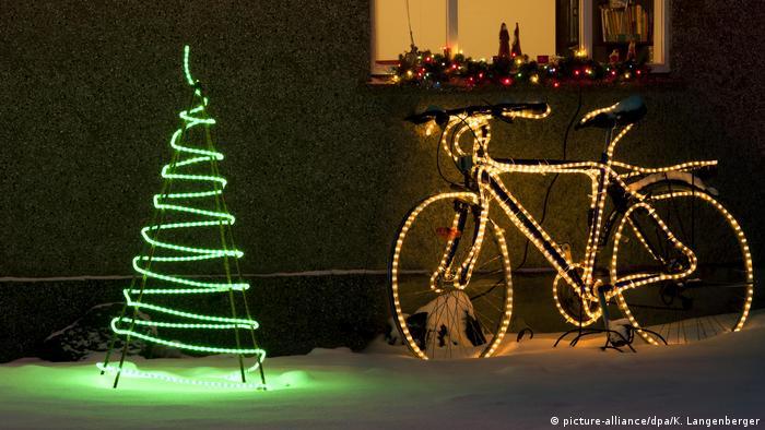 Island Fahrrad Beleuchtung Weihnachten