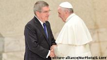 Italien Thomas Bach und Papst Franziskus im Vatikan