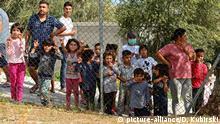 Griechenland Insel Lesbos Kinder im Camp Kara Tepe