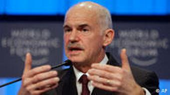 George Papandreou in Davos