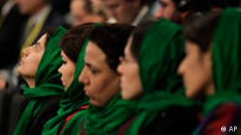 Afghan women at a conference
