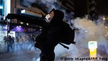 Hongkong   Proteste an Heiligabend
