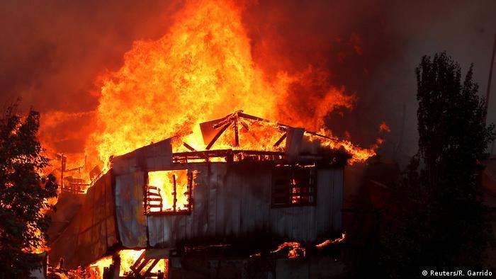 BdTD Chile Waldbränden in Valparaiso