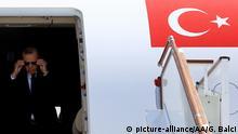 Präsident der Türkei Recep Tayyip Erdogan in Usbekistan