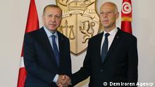 Tunesien l Türkischer Präsident Erdogan trifft Tunesischen Präsidenten Saied in Tunis