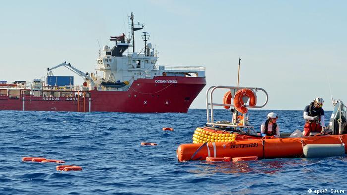 El Ocean Viking rescata migrantes en el Mediterráneo. (Archivo).re)