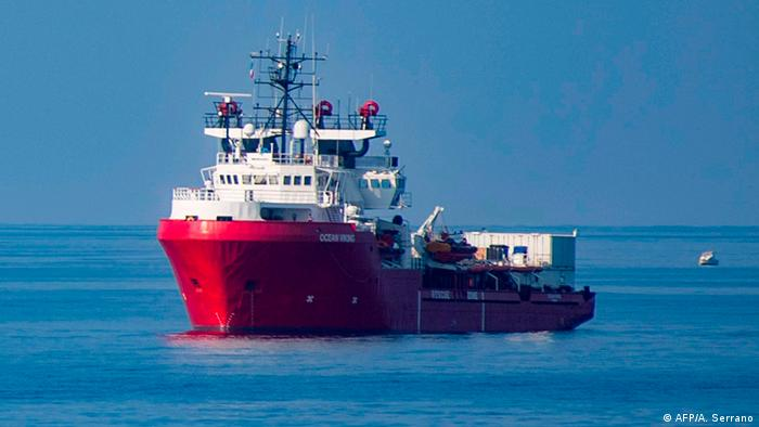 Europa Migration l Ocean Viking - Rettungsschiff in Lampedusa, Italien