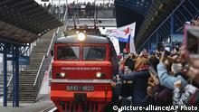 Krim Sewastopol | Ankunft des ersten regulären Zugs aus Russland, Sankt Petersburg