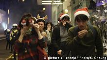 Hongkong l Anti-Regierungsproteste an Weihnachten