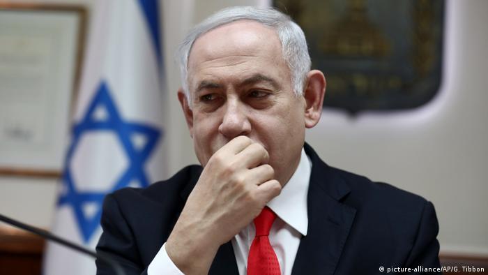 Israel: Rakete zwingt Benjamin Netanyahu / Netanjahu in Bunker (picture-alliance/AP/G. Tibbon)