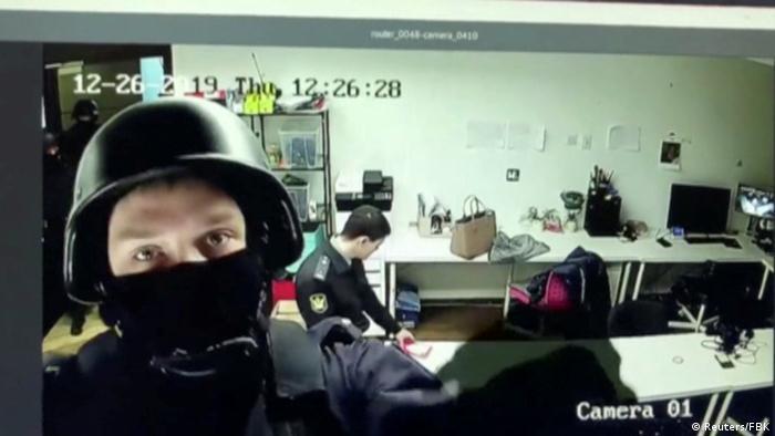 Обыск в московском офисе ФБК, декабрь 2019