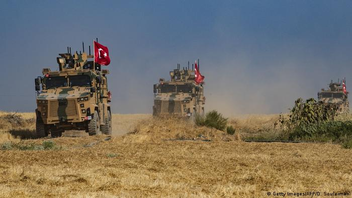 Turkish military vehicles (Getty Images/AFP/D. Souleiman)