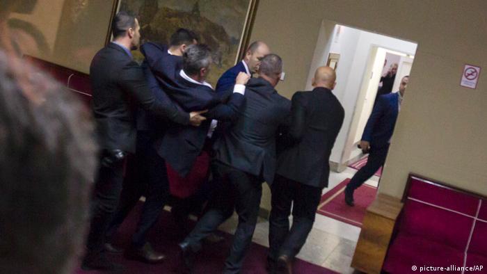 Затримання депутата від опозиції у парламенті Чорногорії